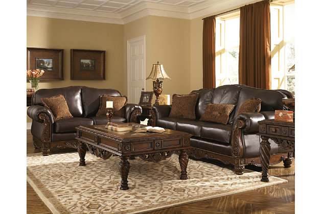 North Shore Loveseat by Ashley HomeStore, Brown, Leather
