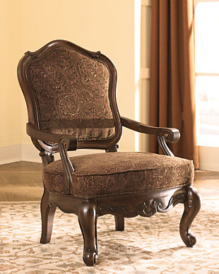 North Shore Accent Chair, Dark Brown, rollover