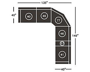 Dak Left-Arm Facing Recliner, , large