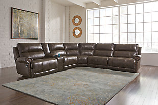 Dak 6-Piece Reclining Sectional with Power, , rollover