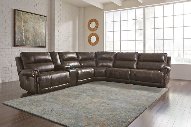Dak 7 Piece Reclining Sectional With Power Ashley