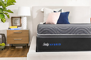 Sealy Silver Chill Firm King Mattress, Black/Gray, large
