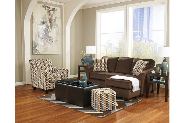 ... living room furniture. Experience the Versatility of the Geordie Storage Ottoman to complete the Modern Cafe Chaise Couch Set  sc 1 st  Ashley Furniture HomeStore : living room furniture chaise - Sectionals, Sofas & Couches