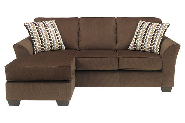Brown chaise lounge with couch for your living room furniture  sc 1 st  Ashley Furniture HomeStore : ashley chaise lounge - Sectionals, Sofas & Couches