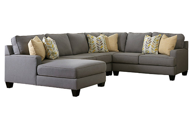 Product shown on a white background  sc 1 st  Ashley Furniture HomeStore : 4 piece sectional with chaise - Sectionals, Sofas & Couches