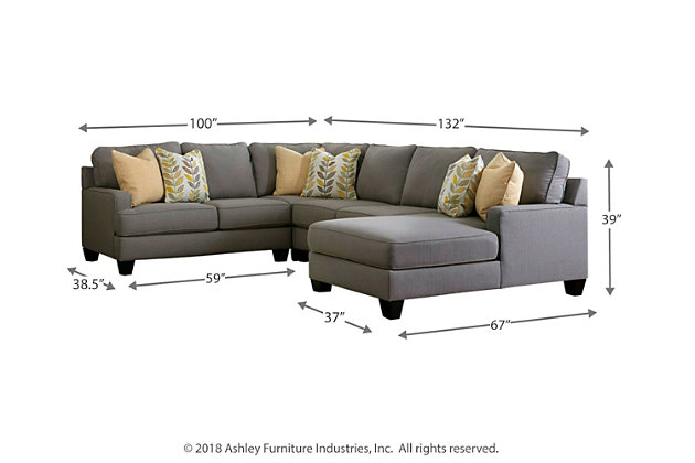 Chamberly 4-Piece Sectional with Chaise, , large
