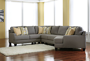Chamberly 4-Piece Sectional with Cuddler, , rollover