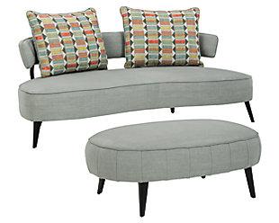Hollyann Sofa and Ottoman, Gray, large