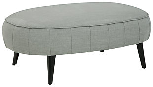 Hollyann Oversized Accent Ottoman, Gray, large