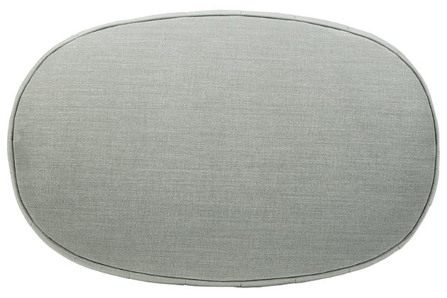 Hollyann Oversized Accent Ottoman, Gray, large