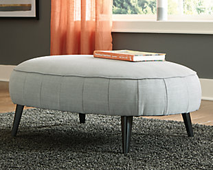 Hollyann Oversized Accent Ottoman, Gray, rollover