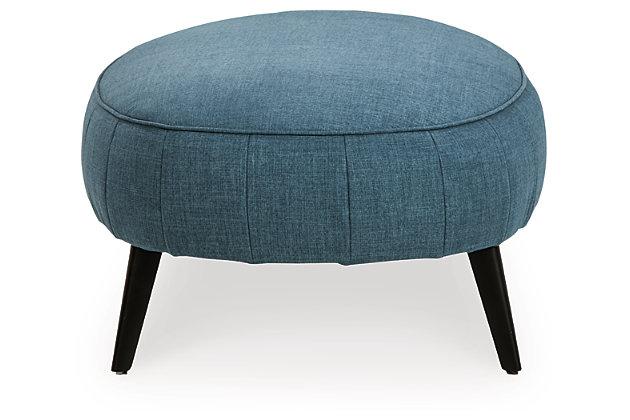 Hollyann Oversized Accent Ottoman, Blue, large