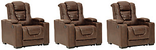 Owner's Box 3-Piece Home Theater Seating, , large