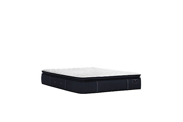 Stearns & Foster® Estate Collection Hurston Luxury Plush Euro Pillowtop Full Mattress, White/Navy, large