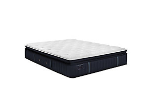 Stearns & Foster® Estate Collection Rockwell Luxury Plush Euro Pillowtop Twin XL Mattress, White/Navy, large