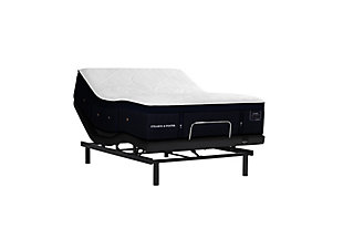 Stearns & Foster Lux Estate Hybrid Collection Pollock Luxury Plush Twin XL Mattress, White/Navy, large