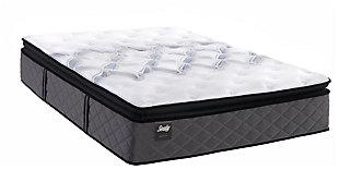 Sealy Surrey Lane Plush Pillow Top Full Mattress, White, large