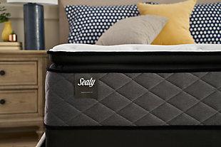 Sealy Surrey Lane Plush Pillow Top King Mattress, White, large