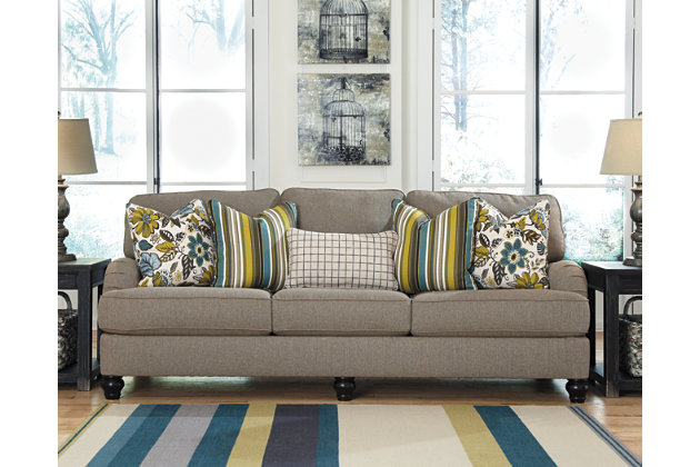Hariston Sofa by Ashley HomeStore, Gray, Polyester (100 %)