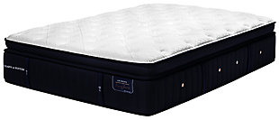 Stearns & Foster Lux Estate Collection Elmhurst Luxury Firm Euro Pillowtop Queen Mattress, White/Navy, large