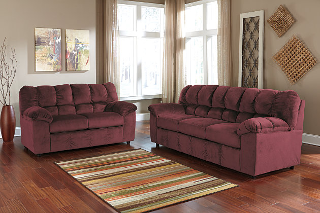 furniture room colette loveseat living package and sofa by signature set gray couch american product packages kroehler