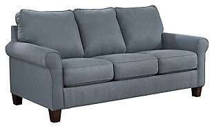 Zeth Full Sofa Sleeper, Denim, large