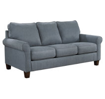 blue sleeper sofa with mattress for your living room