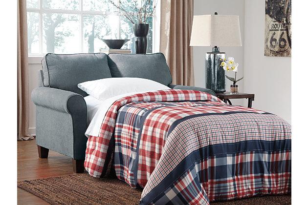 Zeth Twin Sofa Sleeper, Denim, large