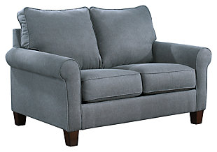 ... Zeth Twin Sofa Sleeper, Denim, Large ...