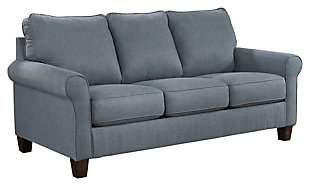 Zeth Queen Sofa Sleeper, Denim, large