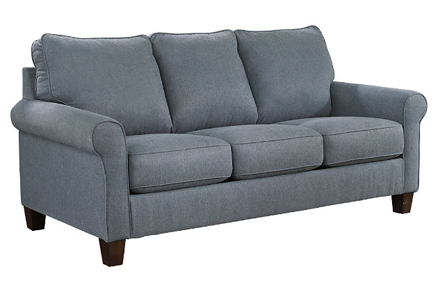 Beau ... Zeth Queen Sofa Sleeper, Denim, Large ...
