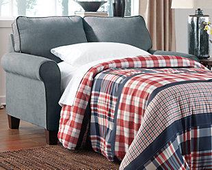 Zeth Twin Sofa Sleeper, Denim, rollover