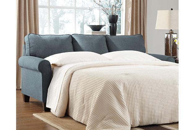 Zeth Queen Sofa Sleeper by Ashley HomeStore, Blue, Polyes...