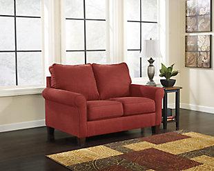 Zeth Twin Sofa Sleeper, Crimson, large