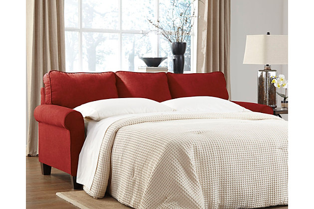 Zeth Queen Sofa Sleeper by Ashley HomeStore, Red, Polyest...