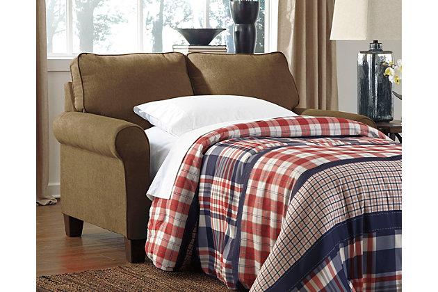 Zeth Twin Sofa Sleeper by Ashley HomeStore, Tan, Polyeste...