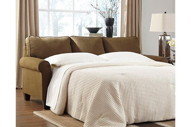 Zeth Queen Sofa Sleeper by Ashley HomeStore, Tan, Polyest...