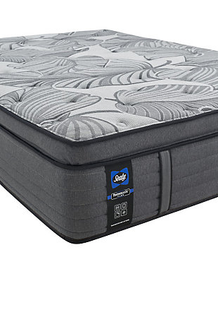 Sealy Euclid Avenue Medium Euro Pillowtop California King Mattress, Gray, large