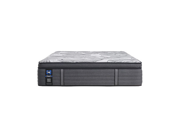 Sealy Euclid Avenue Soft Euro Pillowtop King Mattress, Gray, large