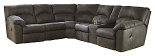 Tambo 2-Piece Reclining Sectional, Pewter, large