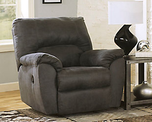 Tambo Recliner, Pewter, large