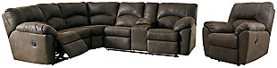Tambo 2-Piece Sectional with Recliner, Canyon, large
