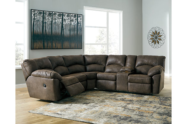 Tambo 2-Piece Reclining Sectional, Canyon, large