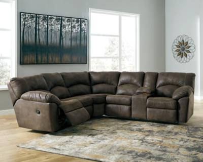 Tambo 2 Piece Reclining Sectional Ashley Furniture Homestore