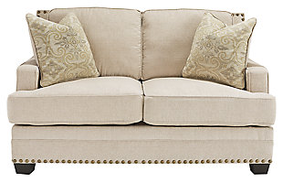 Cloverfield Loveseat, Jute, large