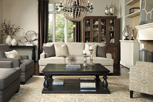 Elegance Of The Beige Couch And Patterned Accent Chair Along With The Gray  Arm Chairs Completed. Black Mallacar Coffee ... Part 71