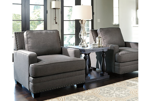 Cloverfield Chair by Ashley HomeStore, Gray, Polyester (100 %)