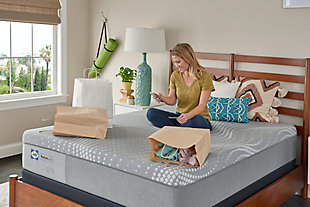 """Sealy 11"""" PP Foam Firm Atwater Village Twin Mattress, Gray, large"""