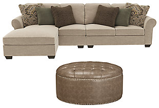 Wilcot 3-Piece Sectional with Ottoman, , large