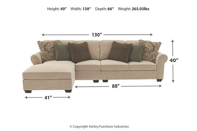 Wilcot 3-Piece Sectional with Chaise, , large